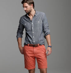Men's Plain-front Shorts