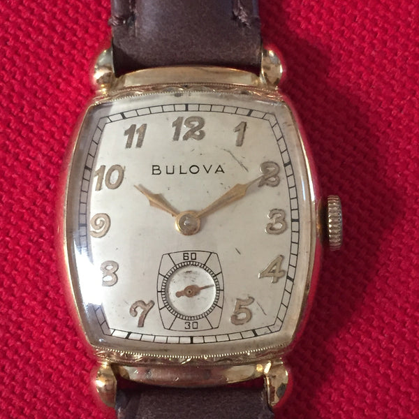 Bulova Minute Man Signed Crown ca. 1948