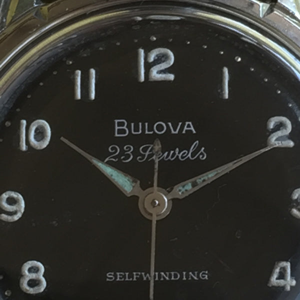 Bulova 23 Jewel Black Dial