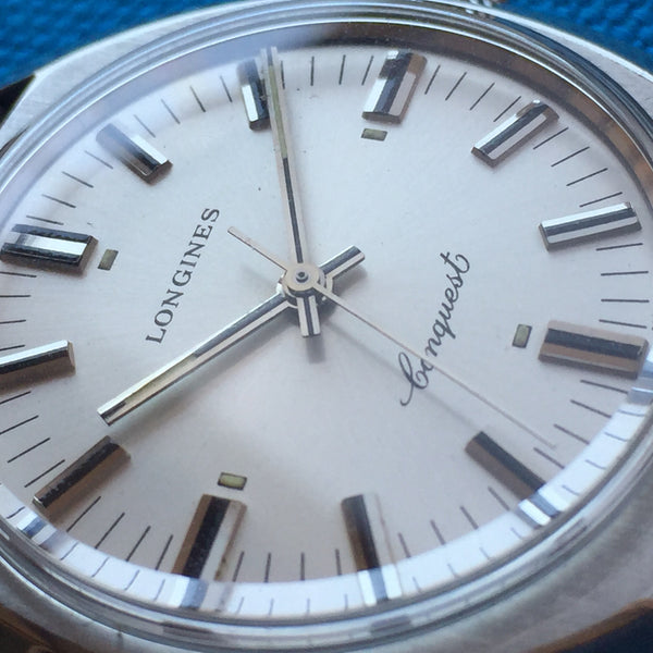 Longines Conquest Stainless Steel Signed Crown