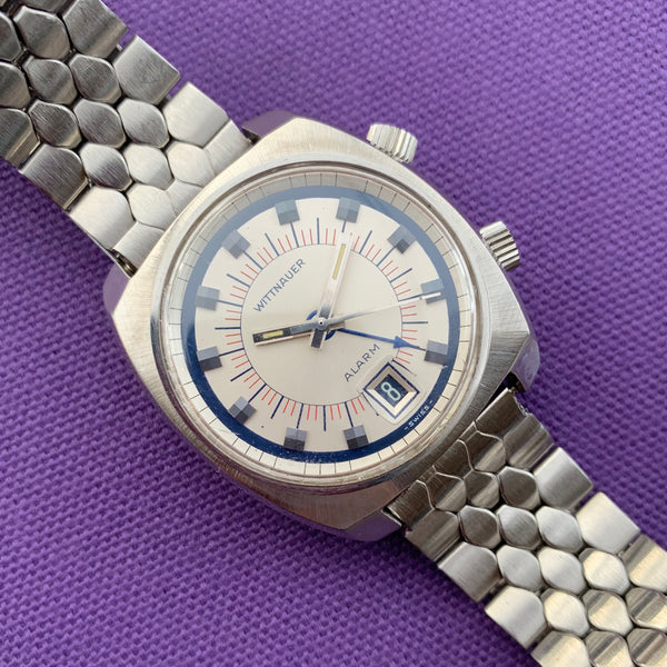 Wittnauer Stainless Steel Alarm Watch cir 1960s