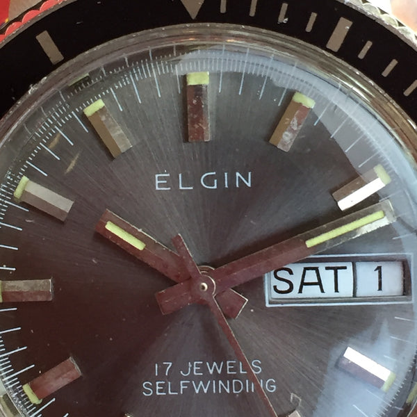 Elgin Coke Bezel Diver Day Date
