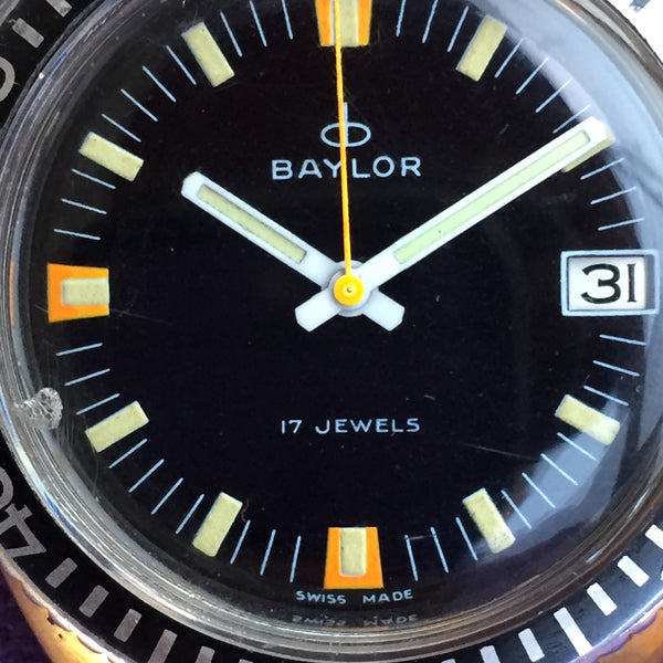 Baylor Black Dial Diver with Date