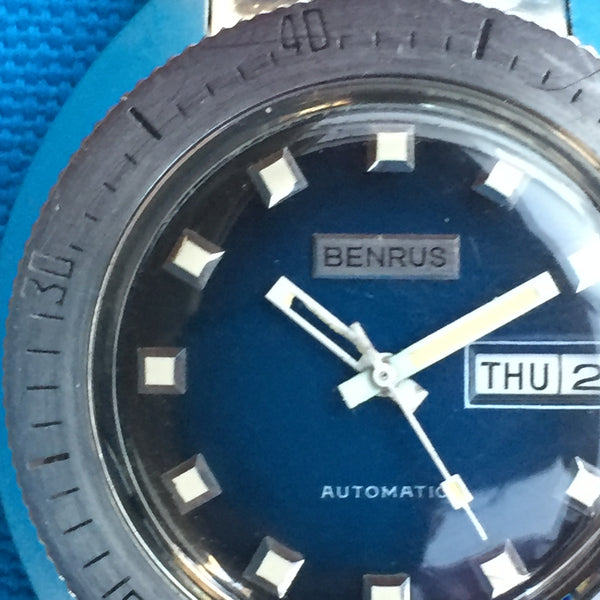 Benrus Diver Blue Dial Automatic with Day and Date