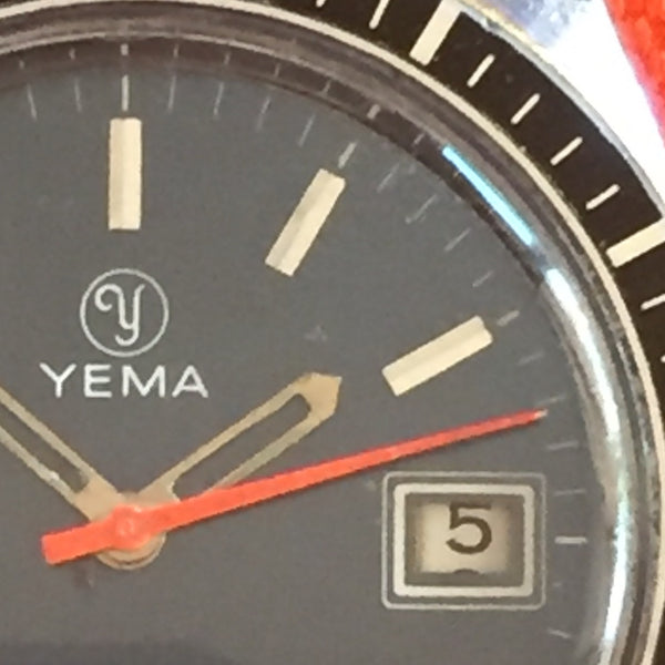 Yema Sous-Marine Orange Second with Date