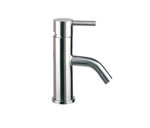 80mm Spout Basin Mixer - Palermo Bagno Brushed Stainless Steel Collection