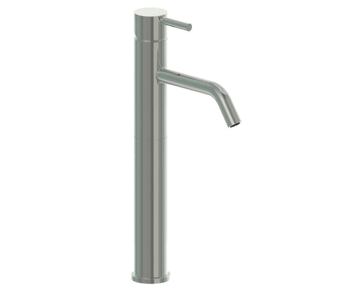 Tall Basin Mixer - Palermo Bagno Brushed Stainless Steel Collection