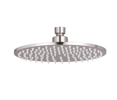 Slim Round Shower Head - Palermo Bagno Brushed Stainless Steel Collection