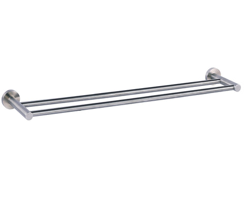 Double Towel Rail - Palermo Bagno Brushed Stainless Steel Collection