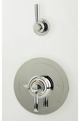 Perrin & Rowe Split Concealed Thermostatic Shower Mixer Remote Shut Off and Lever Handles - 5875