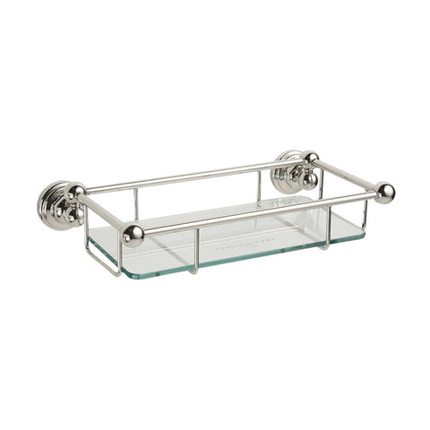 "Perrin & Rowe Traditional 10"" Glass Shelf 6954"