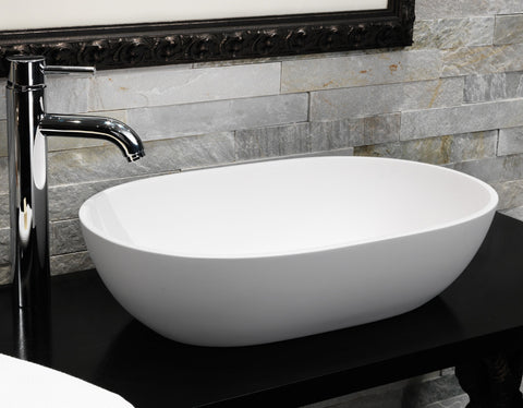 Cloud - Natural Stone Basin Bowl
