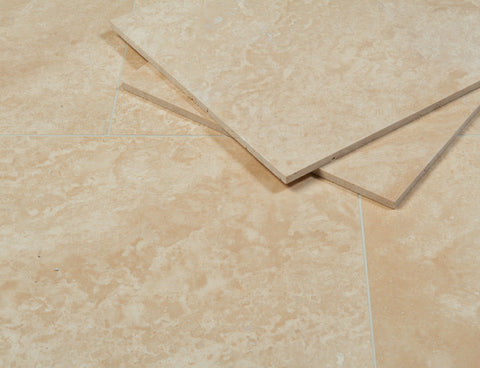 Latte Travertine Honed & Filled Tiles