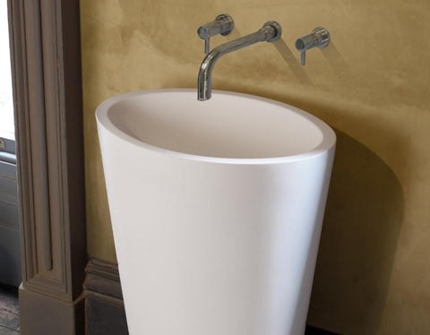 Ellipse - Natural Stone Freestanding Basin
