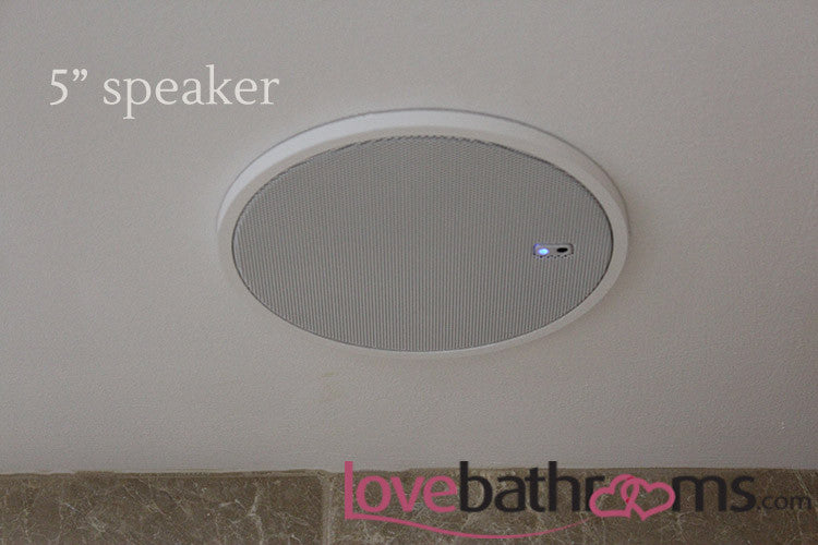 DAB radio with Bluetooth connectivity bathroom sound system with ceiling  speakers. DAB radio with Bluetooth connectivity bathroom sound system with