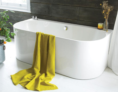 Strait - Back-to-Wall Acrylic Bath