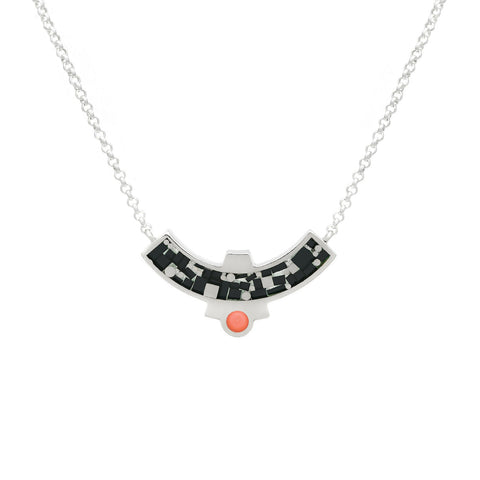 Cascade Necklace - Black Mosaic Inlay