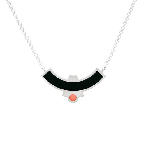Cascade Necklace - Black Solid Inlay