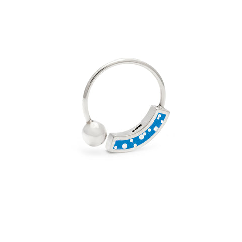Cyndy Ring Silver - Blue Mosaic Inlay