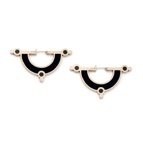 Day Dreaming Earrings - Bronze - Solid Inlay - All Black