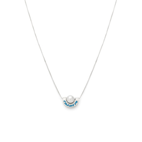 *NEW* Dia Necklace - Sterling Silver - Blue