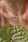 Cascade Necklace - Silver - Solid Inlay