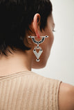 Golden Age Earrings - Silver - Mosaic Inlay - Black