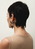 Golden Age Earrings - Bronze - Solid Inlay - All Black