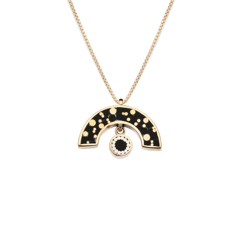James Necklace - Bronze - Mosaic Inlay - Black