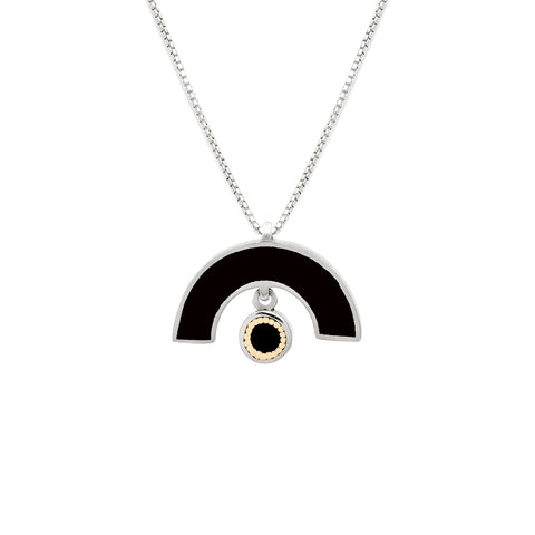 James Necklace - Solid Inlay - Black