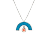 James Necklace - Silver - Solid Inlay - Blue