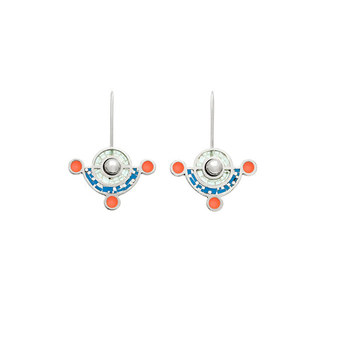 Molly Earrings - Silver - Blue