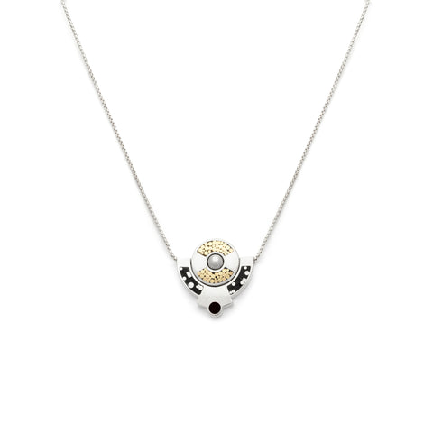 Petit Lapin Necklace - All Black  - Silver