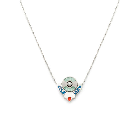 Petit Lapin Necklace - Silver - Blue