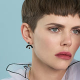 Sweet Baby James Earrings - Silver - Solid Inlay - All Black