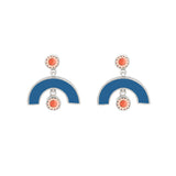 Sweet Baby James Earrings - Silver - Solid Inlay - Blue