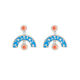 Sweet Baby James Earrings - Silver - Mosaic Inlay - Blue