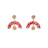 Sweet Baby James Earrings - Red Mosaic Inlay