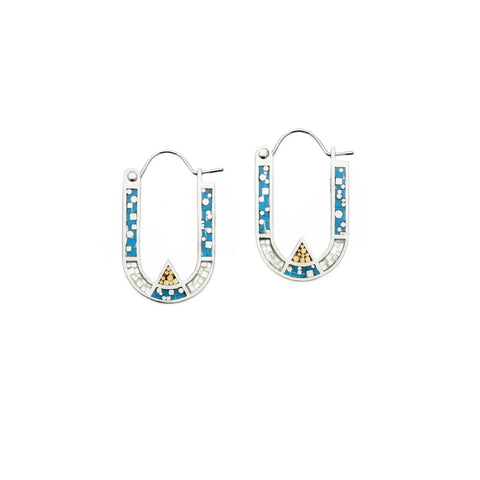Wray Earrings - Silver - Blue/Aqua