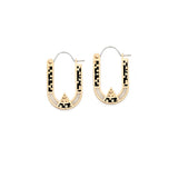 Wray Earrings - 10k Yellow Gold - Black