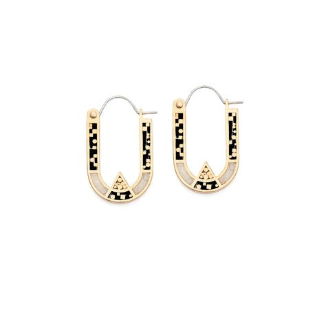 Wray Earrings - Bronze - Black