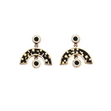 *NEW* Sweet Baby James Earrings Bronze - Black Mosaic Inlay