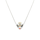 Petit Lapin Necklace - Silver - Black/Peach