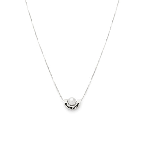 Dia Necklace - Silver - Black