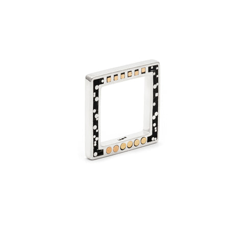 Square Parts Ring - Silver - Black/Brass