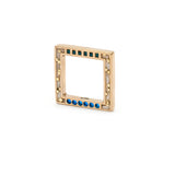 Square Parts Brass - Cream/Blue Mosaic Inlay
