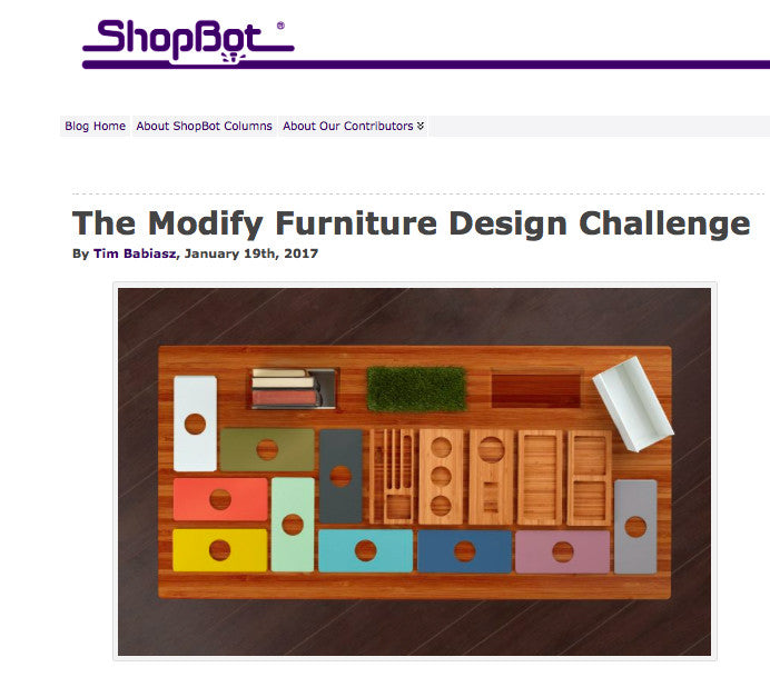 Shopbot CNC router and the Modify Furniture design Challenge