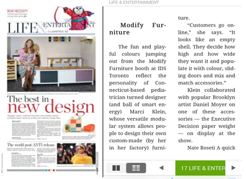 modify furniture on cover toronto star style section