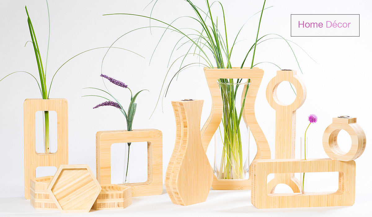 shop our home decor line featuring modern minimalist designs handcrafted with sustainable bamboo