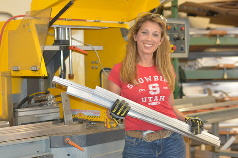 Marci Klein, Modify Furniture owner working in the shop